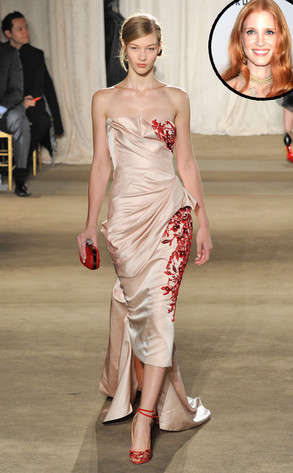 Jessica Chastain, Marchesa Model