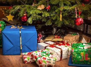 Presents, Gifts, Christmas Tree