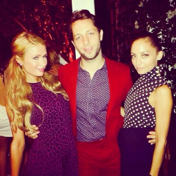 Paris Hilton, Nicole Richie, Derek Blasberg, Instagram