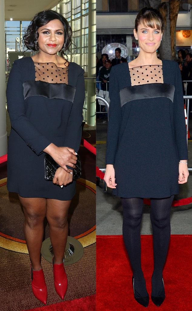 Fashion Twinsies Mindy Kaling And Amanda Peet E Online