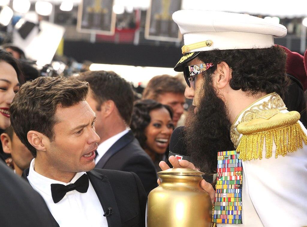 Ryan Seacrest, Sacha Baron Cohen, Oscars