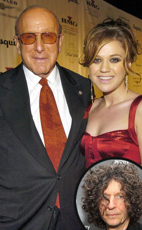 Howard Stern, Clive Davis, Kelly Clarkson
