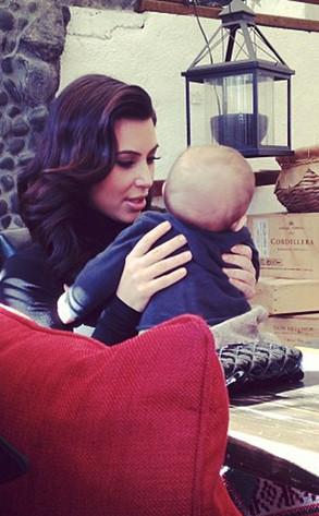 Kim Kardashian, Penelope Disick, Twit Pic