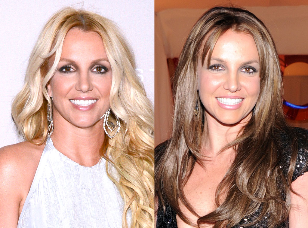 Britney Spears From Celebrities Changing Hair Color E News