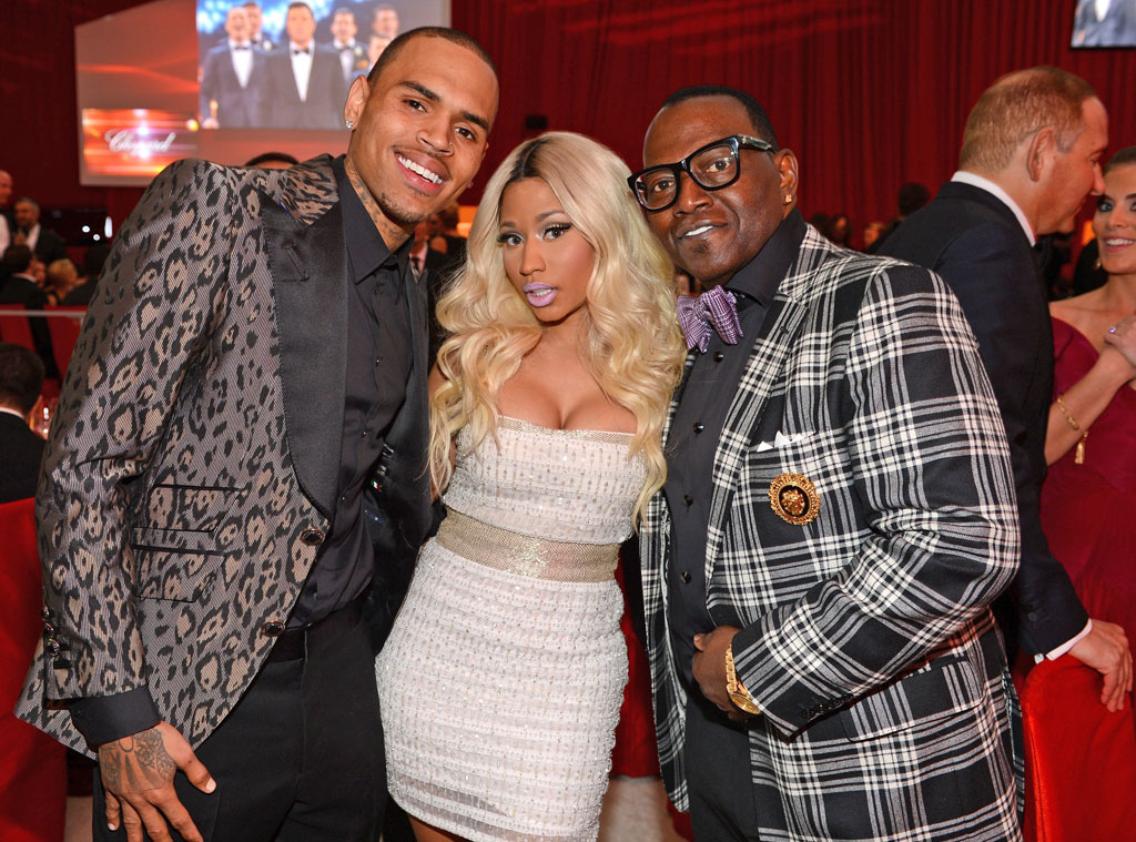 Chris Brown, Nicki Minaj, Randy Jackson, Elton John Oscars Party
