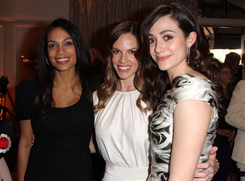 Emmy Rossum, Rosario Dawson, Hilary Swank