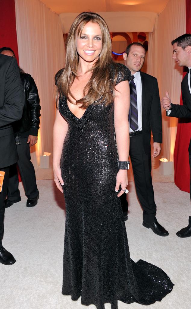 Britney Spears, Elton John Oscars Party 2013
