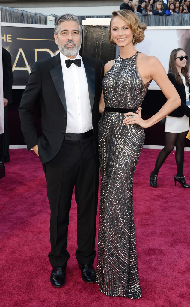 George Clooney, Stacy Keibler, Oscars 2013