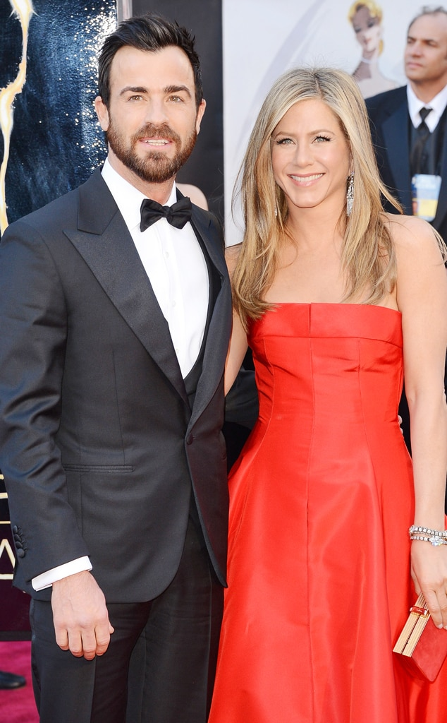 Justin Theroux, Jennifer Aniston, Oscars 2013