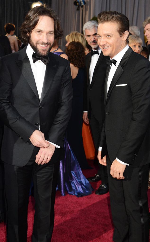 Paul Rudd, Jeremy Renner, Oscars 2013