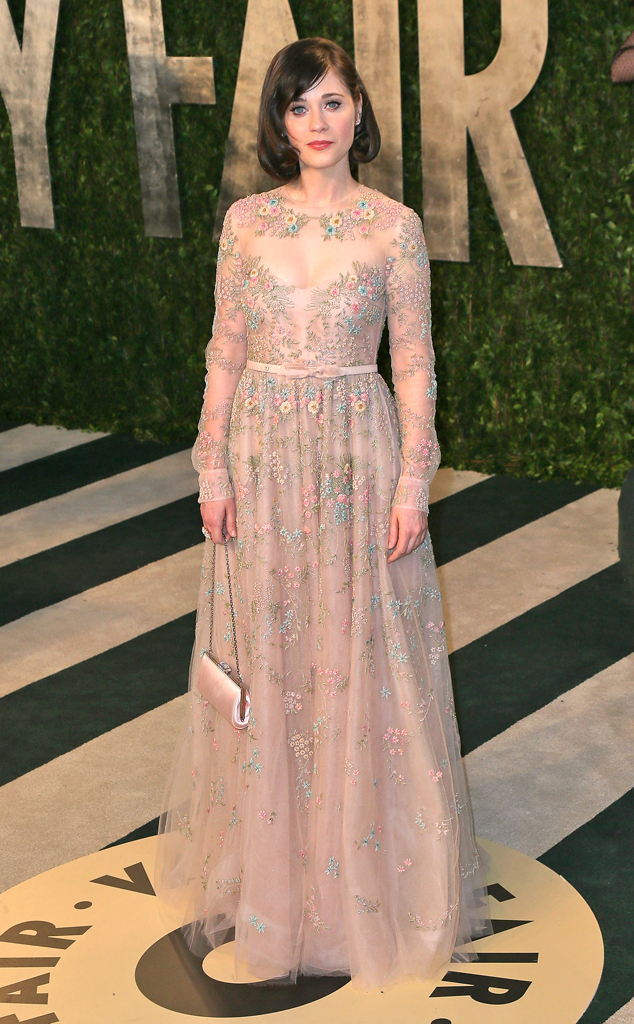 Zooey Deschanel, 2013 Vanity Fair Oscar Party