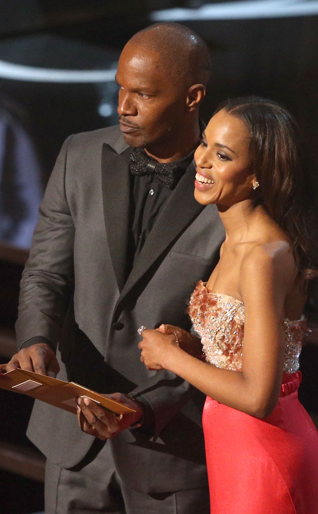 2013 Oscars Show, Jamie Foxx, Kerry Washington