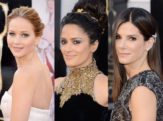 Oscars 2013, Jennifer Lawrence, Salma Hayek, Sanda Bullock
