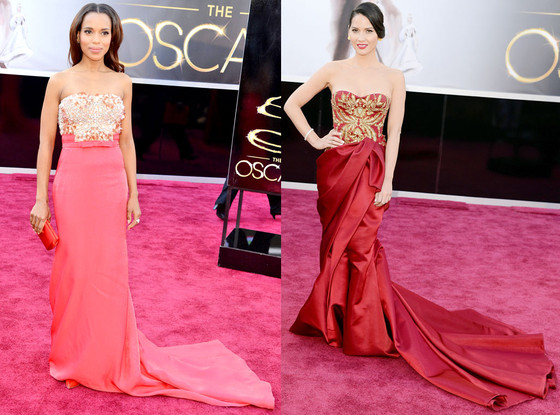 Olivia Munn, Kerry Washington, Oscars 2013