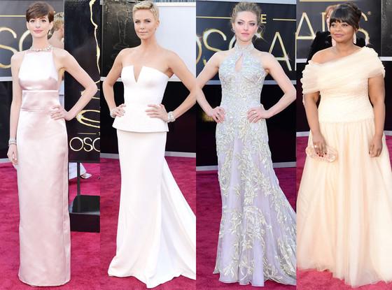 Charlize Theron, Amanda Seyfried, Octavia Spencer, Anne Hathaway, Oscars 2013 Pastel Trend