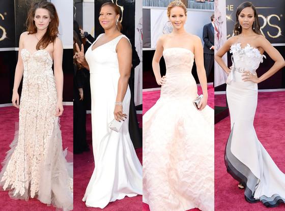 Zoe Saldana, Kristen Stewart, Jennifer Lawrence, Queen Latifah , Oscars 2013 Pastel Trend