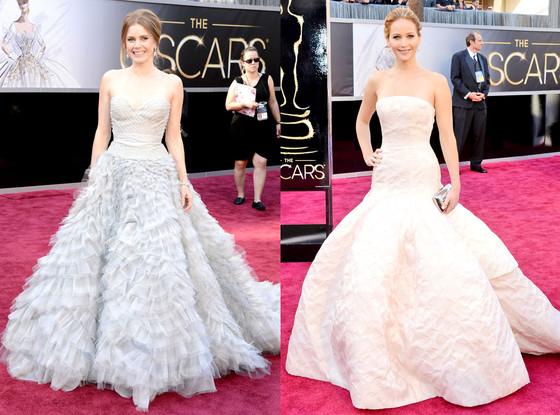 Amy Adams, Jennifer Lawrence, Oscars 2013