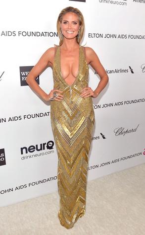 Heidi Klum, Elton John Oscars Party