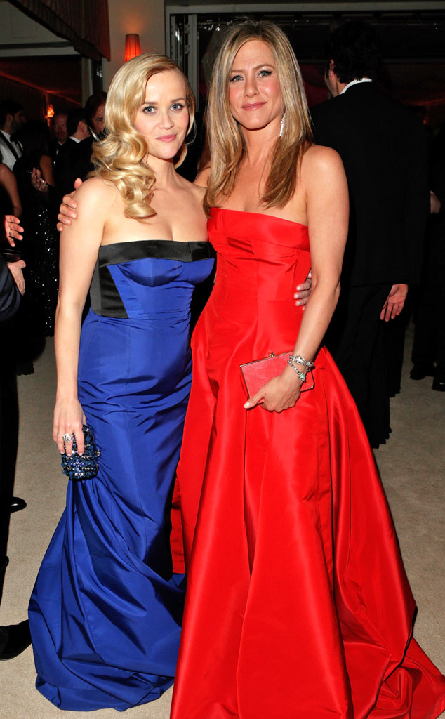 Reese Witherspoon, Jennifer Aniston, 2013 Vanity Fair Oscar Party
