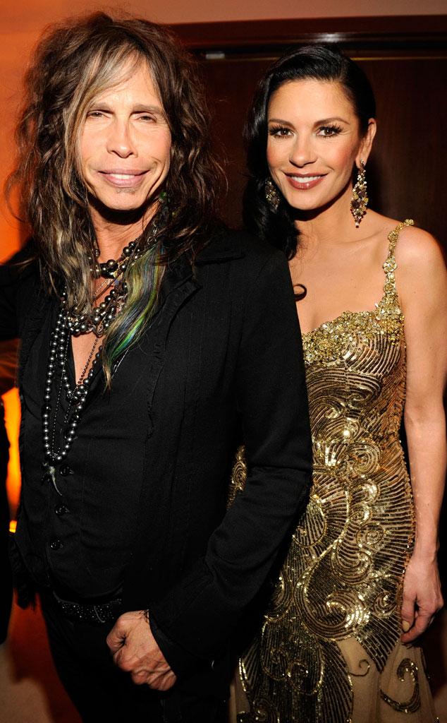 Steven Tyler, Catherine Zeta-Jones, 2013 Vanity Fair Oscar Party