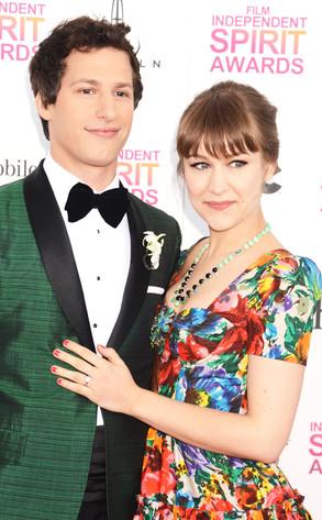 Andy Samberg, Joanna Newsom, 2013 Film Independent Spirit Awards