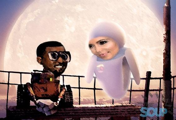 Kim & Kanye paintings