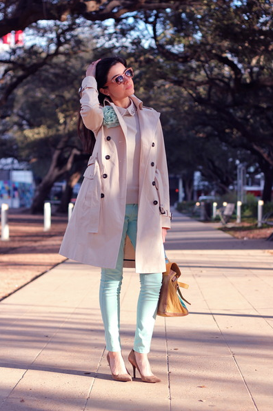 Trenchcoat, look do dia
