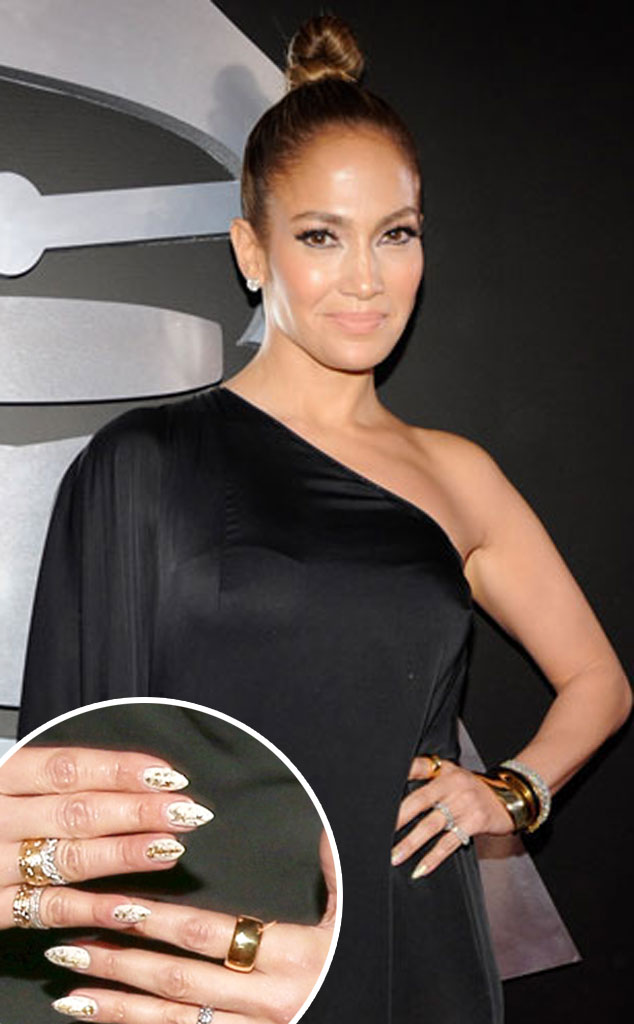 Jennifer Lopez from Great Nail Art of the 2013 Red Carpet Season | E ...