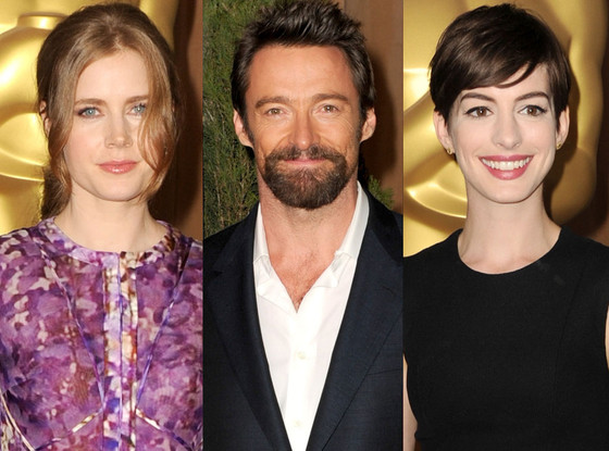 Amy Adams, Anne Hathaway, Hugh Jackman