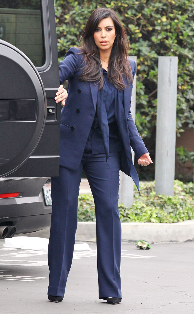 Well Suited From Kim Kardashian S Pregnancy Style E News