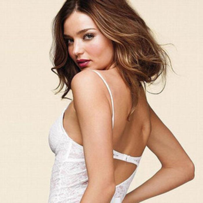 517954178 Miranda Kerr Models Victoria s Secret Bridal Lingerie (And Looks Perfect)