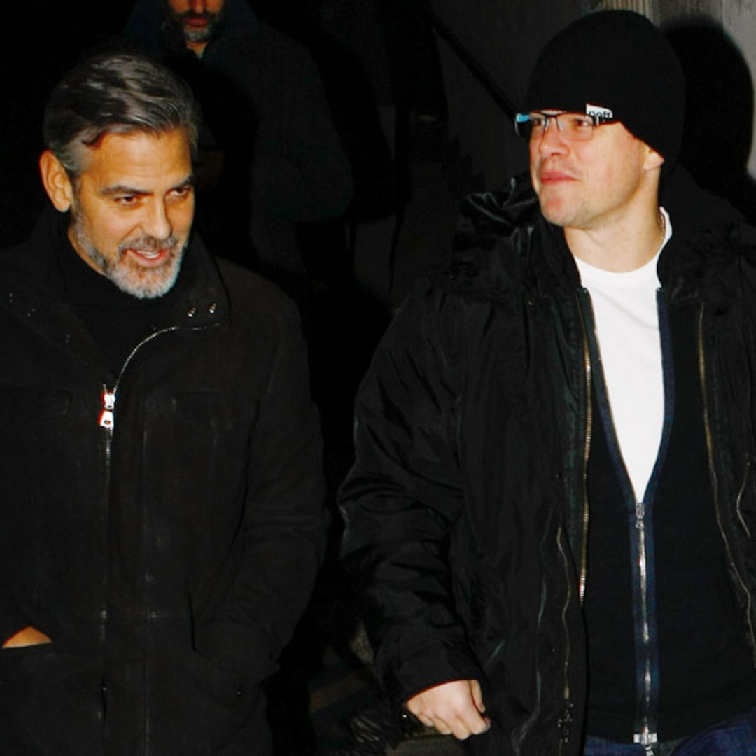 George Clooney And Matt Damon Dine Together In Berlin