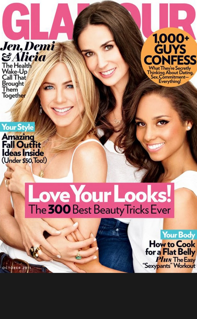 Jennifer Aniston, Demi Moore, Alicia Keys, Glamour