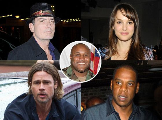 Charlie Sheen, Natalie Portman, Jay-Z, Brad Pitt, World War Z