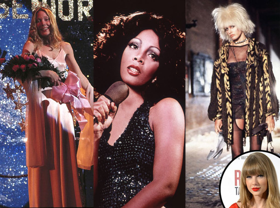 Taylor Swift, Carrie, Sissy Spacek, Donna Summer, Daryl Hannah, Bladerunner