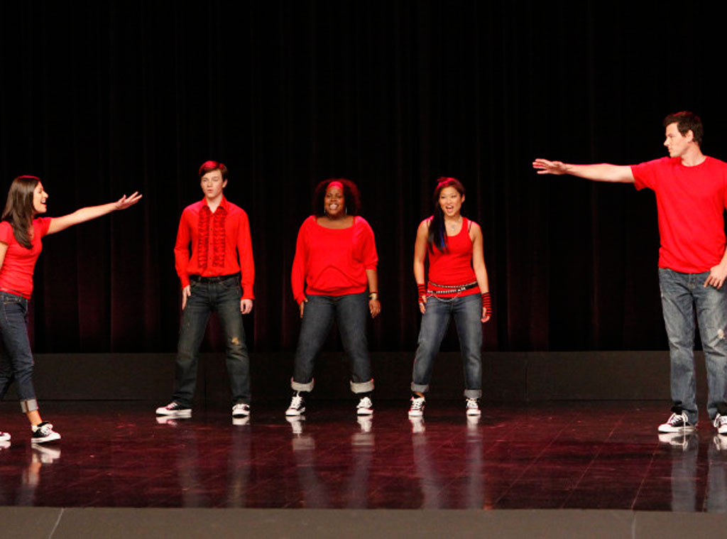 Glee, Lea Michele, Chris Colfer, Amber Riley, Jenna Ushkowitz and Cory Monteith