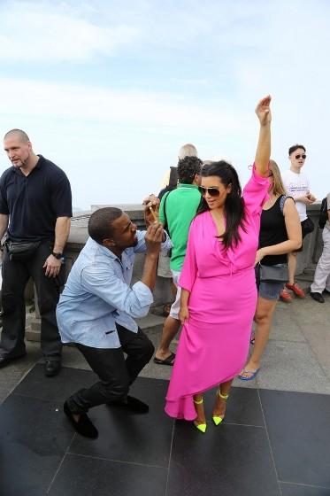 Kim Kardashian, Kanye West, Cristo Redentor