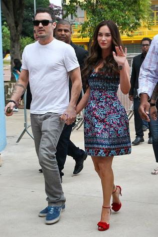 Megan Fox, Brian Austin, Brasil