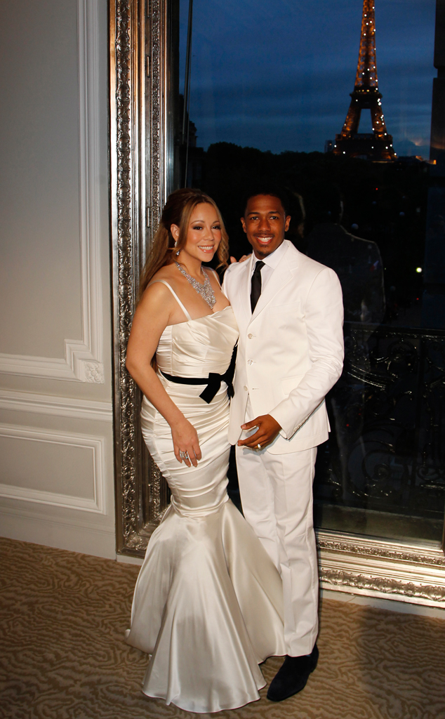 Mariah Carey, Nick Cannon, Eiffel Tower