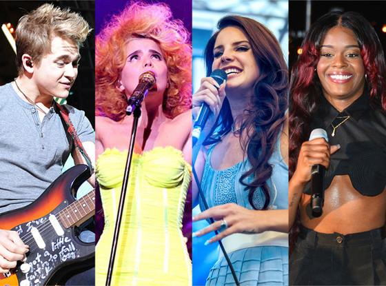Hunter Hayes, Paloma Faith, Lana Del Rey, Azealia Banks