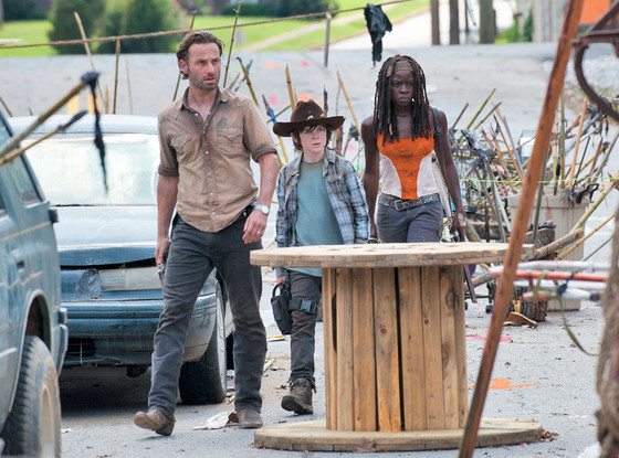 Andrew Lincoln, Chandler Riggs, Danai Gurira, The Walking Dead