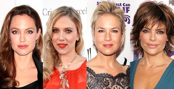Angelina Jolie, Renee Zellweger, Scarlett Johansson, Lisa Rinna