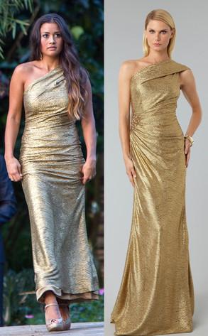 Catherine Giudici Glitters in David Meister Dress in Bachelor Finale ...