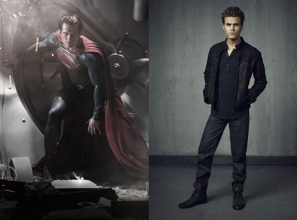 Henry Cavill, Man of Steel, Paul Wesley, The Vampire Diaries