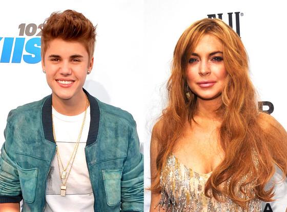 Justin Bieber, Lindsay Lohan