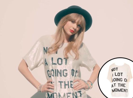 Taylor Swift, 22 Video, Ashish Sequin Tee