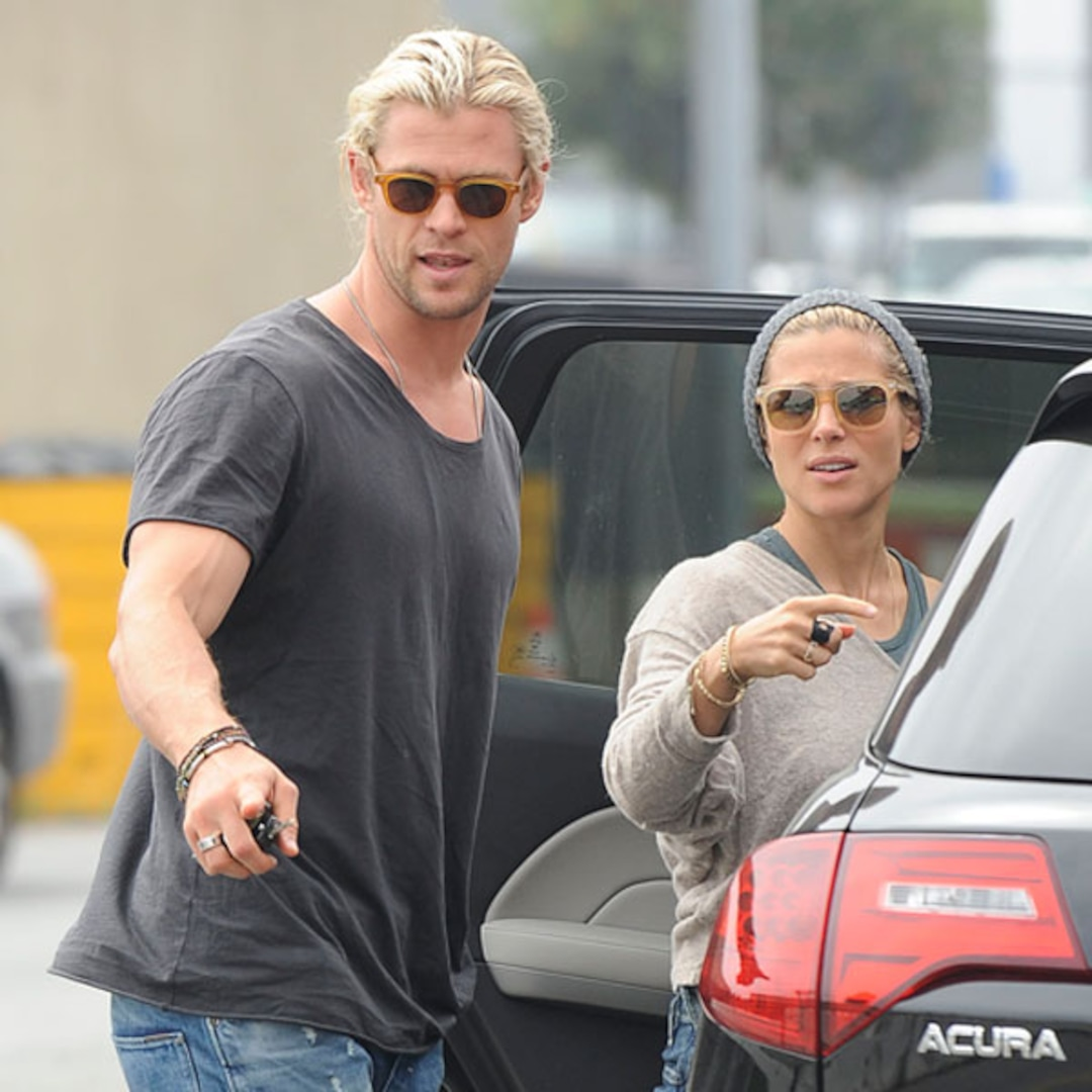 Chris Hemsworth Back In L.A. With Wife After Aussie