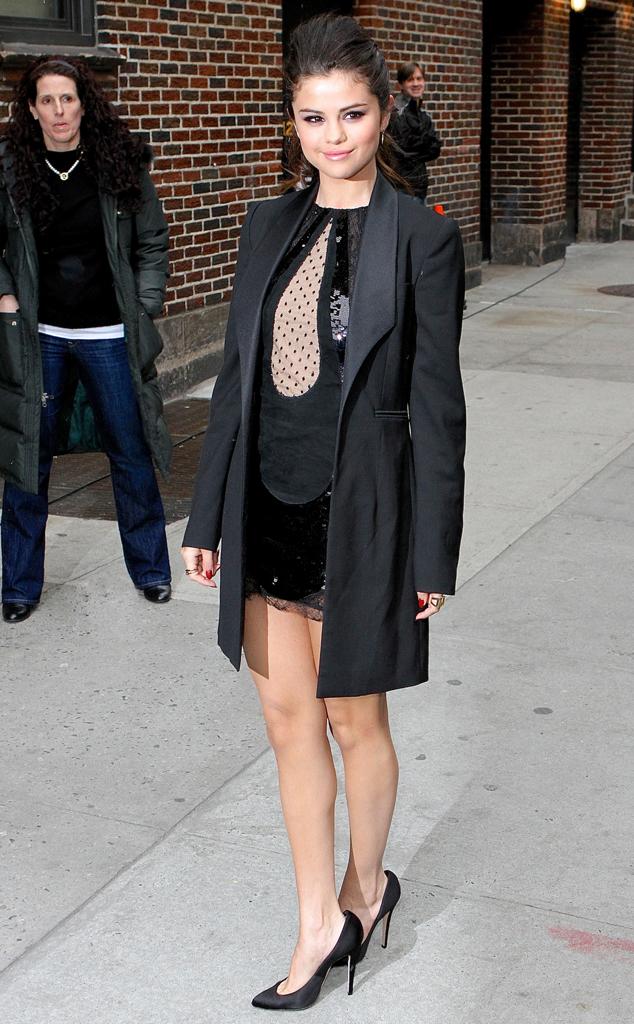 Selena Gomez, David Letterman