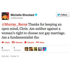 Michelle Shocked, Tweet