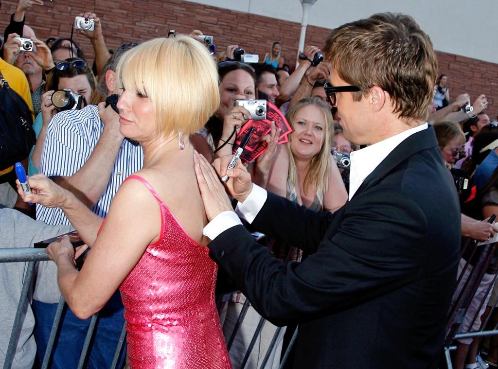Brad Pitt, Ellen Barkin, Autograph